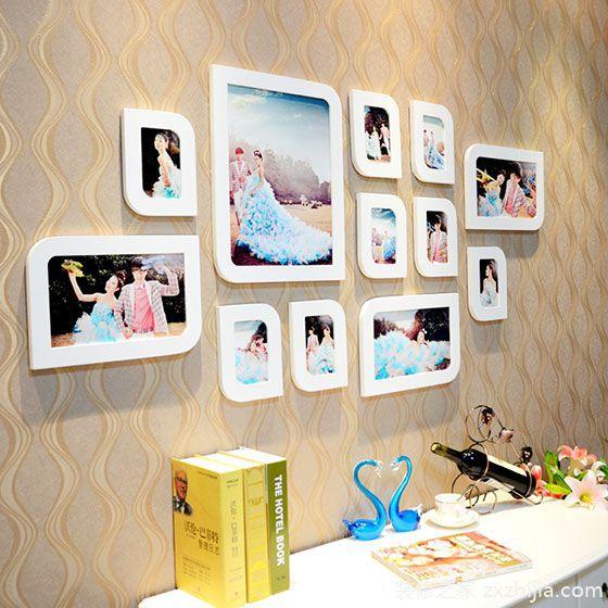 婚纱照片墙效果图 13款温馨墙面