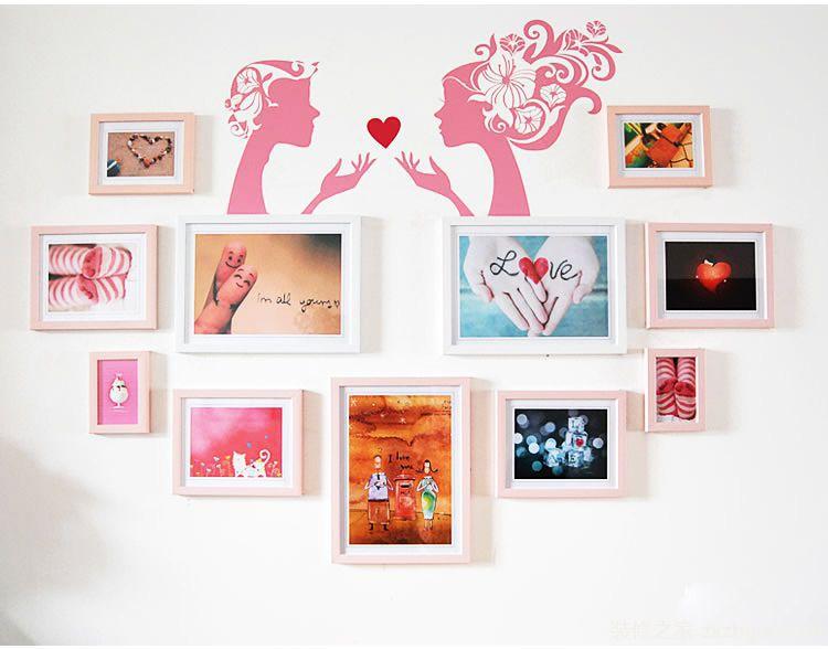13款心型照片墙设计图
