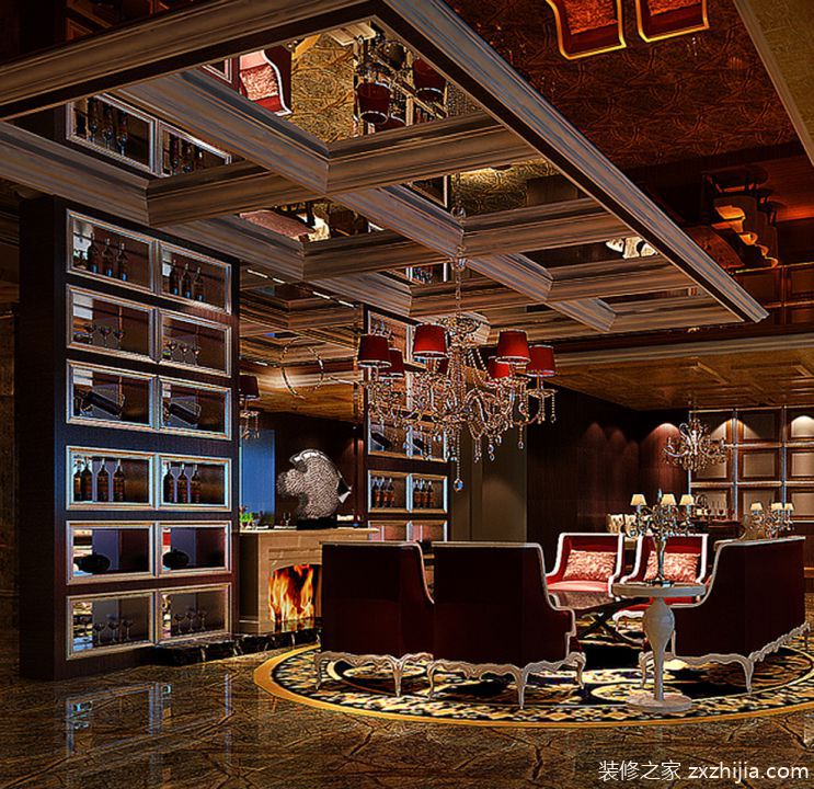 摩卡红酒吧-摩卡酒吧720平米大户型混搭风格