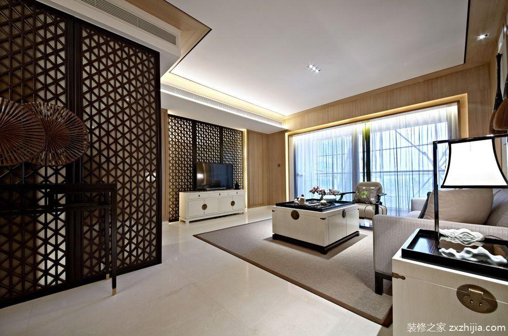 中洲中央公园二期新中式风格样板房设计_ksl设计事务所