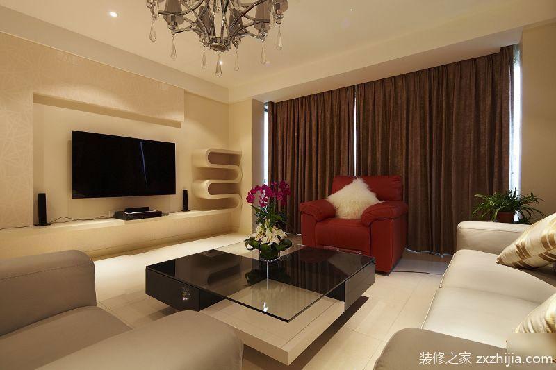 方圆越秀时光3室2厅135平米现代风格