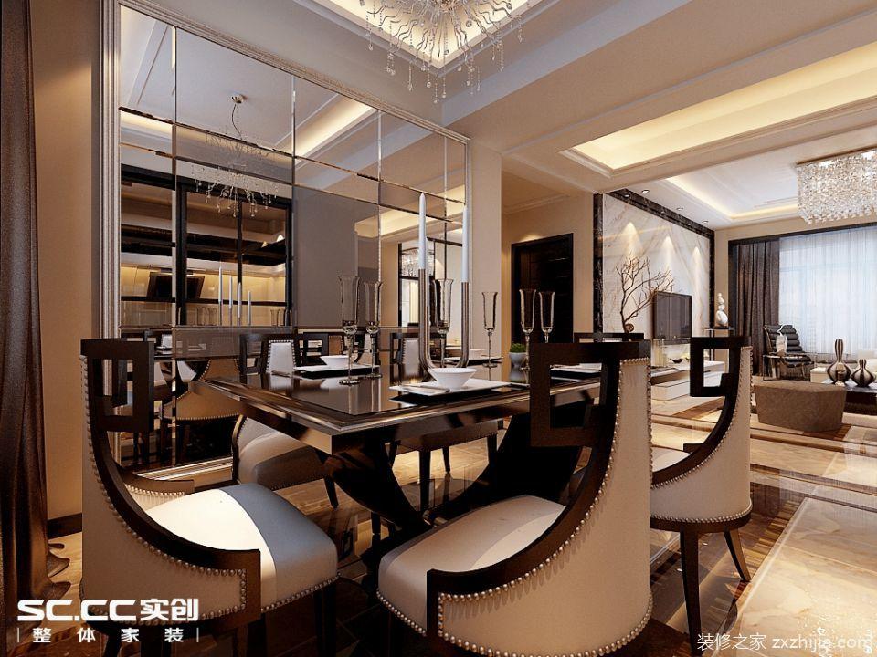 哈尔滨实创装饰11万装修翠湖天地117平后现代风格二居室温馨图片