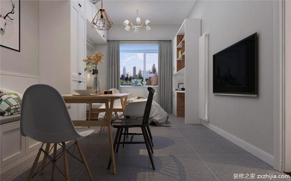 一室一厅小户型北欧风格装修效果图
