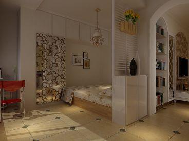 升龙玺园-三居室-田园风格装修设计