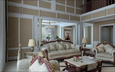 盛和天下欧式客厅装潢