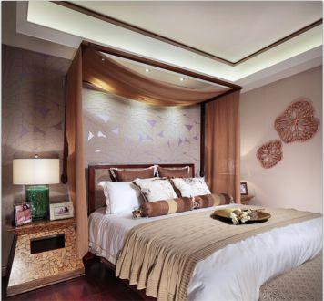 百瑞景中央生活区东南亚风格卧室装潢
