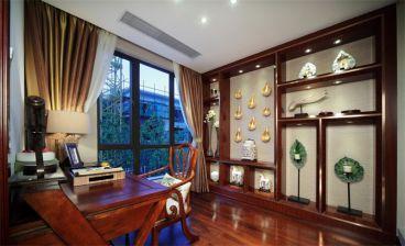 百瑞景中央生活区东南亚风格书房设计