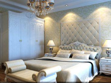 奢华白色简欧卧室装潢