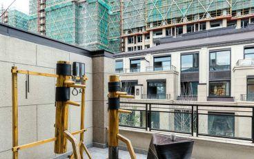 盘锦花园新中式阳台设计