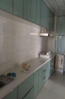 广福城白色现代简约厨房效果图