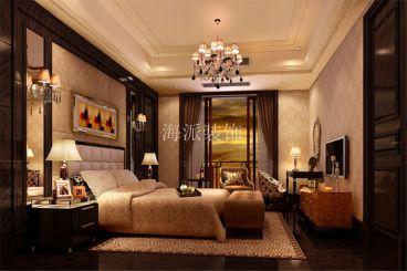 金地湖城大境白色美式卧室装修