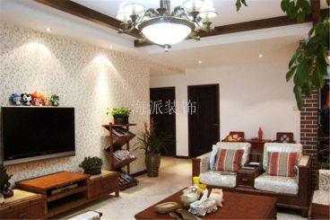 曲江观邸白色美式客厅设计