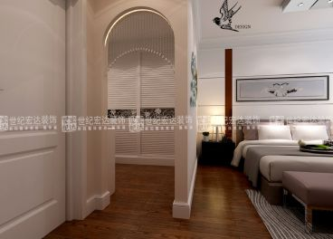 卧室与衣帽间的分隔