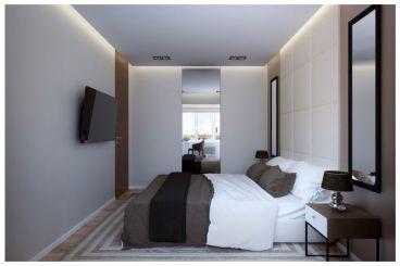 金海湾灰色简约卧室