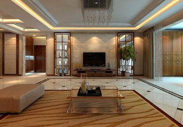 锦绣福源咖啡色的新中式家装