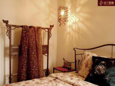 金穗家园米色的新中式卧室装修