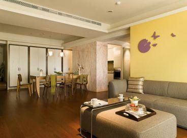 现代简约风格住宅客厅装修效果图