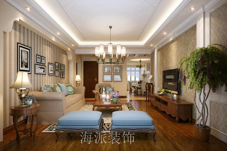 高科绿水东城140平美式住宅装修