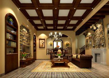 清水木华地中海风格复式住宅装修