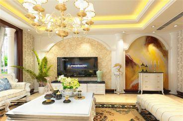 江南春花园-140㎡-欧式风格-客厅
