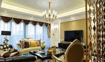 歐式古典風格客廳實景圖
