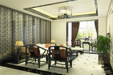 蘭园-130㎡-新中式-客厅