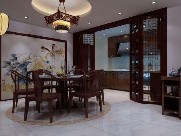 力旺弗朗明歌咖啡色新中式餐厅照片展
