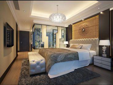 卧室以现代原木色为主调
