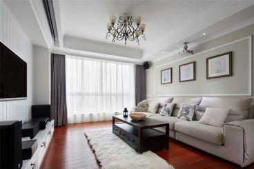 广厦天都城蓝调公寓简欧风格客厅展示