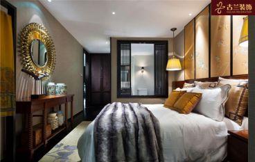 静月花园新中式卧室效果图