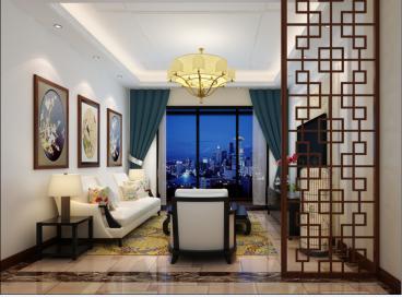 鸿博家园新中式风格80平住宅装修
