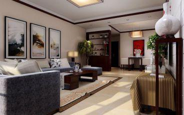 开祥御龙城中式风格三居室装修设计