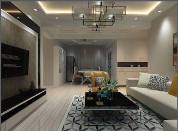 滨海一号简约风格三居室装修案例