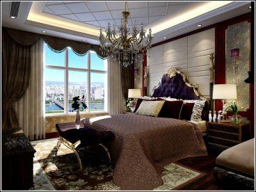 御汤山欧式古典卧室效果图