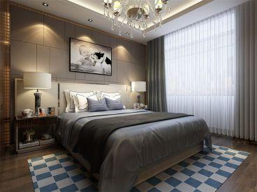 龙湖滟澜山现代简约卧室效果图