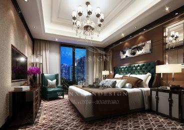 龙湾二期三栋港式卧室效果图