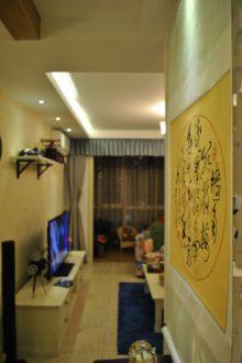 东原D7时尚混搭客厅效果图