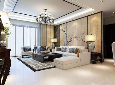 北辰区欧铂苑中式风格两居室装修案例