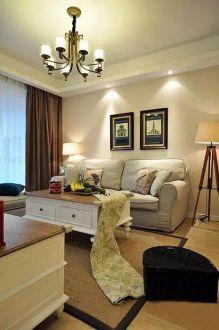 龙湖紫云台美式风格120平普通住宅装潢