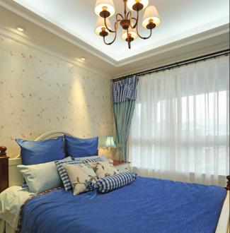 天阳尚城国际美式卧室效果图