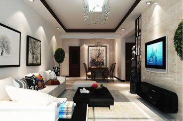 西城林雨简约风格全包三居室装潢
