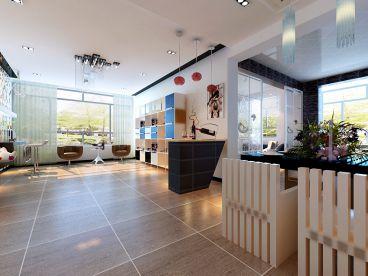阳光国际现代简约客厅效果图