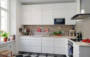 高新区西雅图现代简约厨房效果图