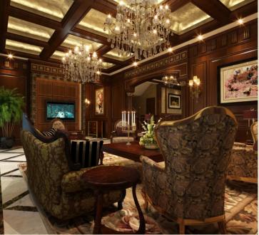 朗悦湾装修新中式风格半包别墅装修案例