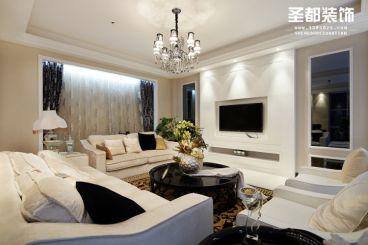 【后现代风格】A6精装样板房120方现代简约客厅效果图