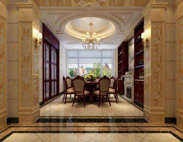 保利香槟国际简欧风格400平别墅装修
