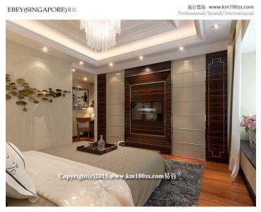 中洲阳光港式卧室效果图