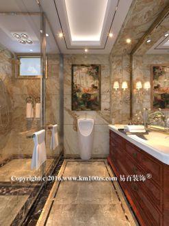 泸西欧式古典卫生间效果图