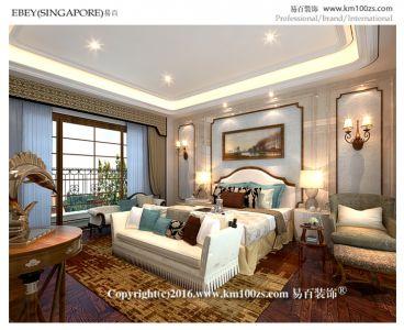 法式风格欧式古典卧室效果图