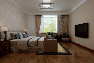 长水山庄新中式风格130平三居室装修